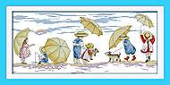 Картина «Дети на пляже» для вышивки, K438