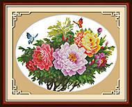 Картина для вышивки «Бабочки и пионы», H223, фото