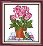 Картина для вышивки «Цветы и птичка», H257
