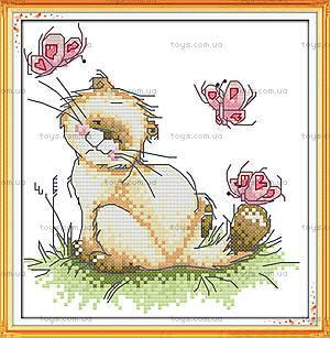 Картина для вышивки «Кот на прогулке», K489