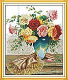 Картина для вышивки крестиком «Букет роз», H342