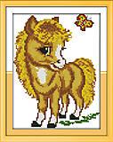 Картина для вышивки «Маленький пони», D363, фото