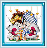 Картина для вышивки «Сладкие сны», K102, отзывы
