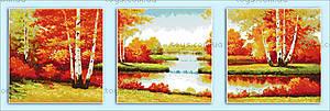 Картина для вышивки «Золотая осень», F106