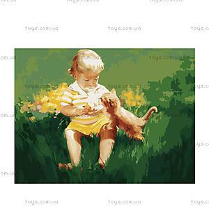 Картина «Два малыша», рисование по номерам, MG1027