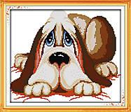 Картина «Грустный песик» в наборе с нитками, K263, фото
