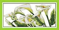 Картина «Каллы», вышивка крестиком, H153, фото