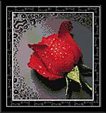Картина «Красная роза», вышивка крестиком, H023(1)