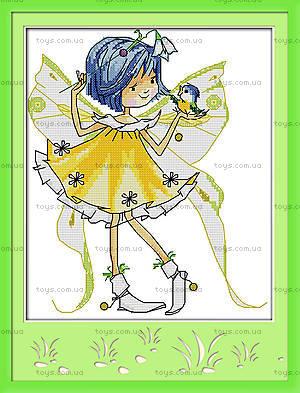 Картина «Маленькая фея», вышивка крестиком, K484