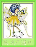 Картина «Маленькая фея», вышивка крестиком, K484, фото
