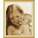 Картина «Мать и дитя» для вышивки крестиком, R045, фото