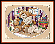 Картина «Медвежата» для вышивки, K175