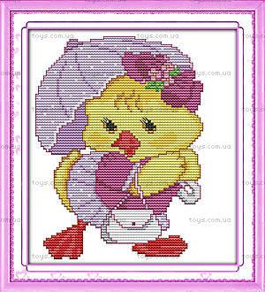 Картина «Модный цыпленок», вышивка крестиком, K422