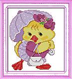 Картина «Модный цыпленок», вышивка крестиком, K422, фото
