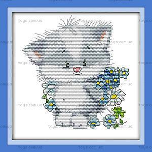 Картина «Милый котенок», вышивка крестиком, K177