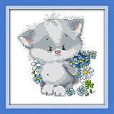 Картина «Милый котенок», вышивка крестиком, K177, фото