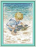 Картина «На побережье» для вышивки крестиком, R481, купить