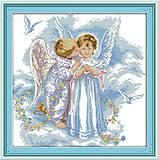 Картина «Нежные ангелы», вышивка крестиком, R504, фото