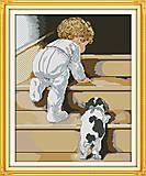 Картина «Первые шаги», рукоделие, R514