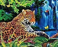 """Картина по номерам + Алмазная мозаика """"Леопард"""" ★★★★, GZS1042, купити"""