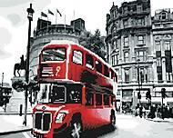 """Картина по номерам + Алмазная мозаика """"Лондонский автобус"""" ★★★★, GZS1073, купить игрушку"""