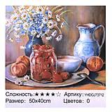 "Картина по номерам + Алмазная мозаика ""Натюрморт"" ★★★★, 73712, іграшки"