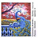 "Картина по номерам + Алмазная мозаика ""Павлин"" ★★★★, 73428, детский"