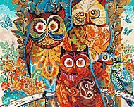 """Картина по номерам + Алмазная мозаика """"Волшебные совы"""" ★★★★, GZS1003, купить"""
