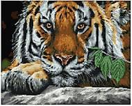 """Картина по номерам + Алмазная мозаика """"Взгляд тигра"""" ★★★★, GZS1009, тойс ком юа"""