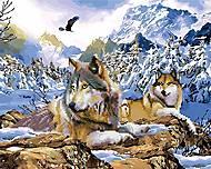 "Картина по номерам + Алмазная мозаика ""Зимние волки"" ★★★★, GZS1010, детские игрушки"