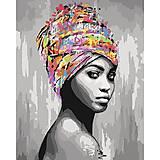 Картина по номерам «Африканская красота«, КНО4587, опт