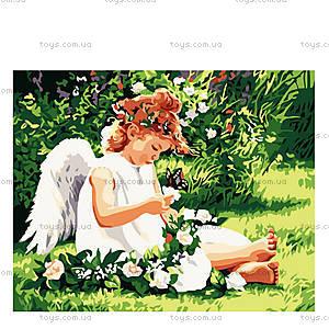 Картина по номерам «Ангелочек с бабочкой», КН310