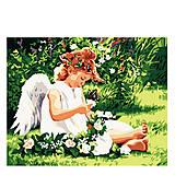 Картина по номерам «Ангелочек с бабочкой», КН310, фото