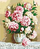 Картина по номерам «Благородные пионы», KH2032, фото