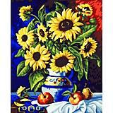 Картина по номерам «Букет подсолнухов», КН088