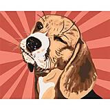 """Картина по номерам """"Бигль поп-арт"""" ★★★ , КНО4154, отзывы"""