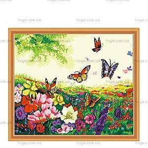 Картина по номерам «Цветы и бабочки», КН250