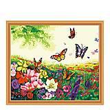 Картина по номерам «Цветы и бабочки», КН250, купить