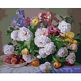 Картина по номерам «Цветы и персики», КН281