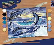 Картина по номерам «Дельфины», SA0563, фото