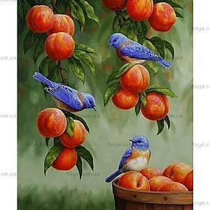 Картина по номерам «Дрозды и персики», КНО2429