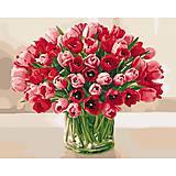 Картина по номерам «Жгучие тюльпаны», КНО3058, фото