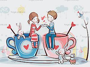 Картина по номерам «Кофейная любовь», КНО2627