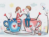 Картина по номерам «Кофейная любовь», КНО2627, фото