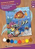 Картина по номерам «Кораллы и рыбы», SA0032