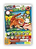 Картина по номерам «Котёнок играет», KN-03-05, отзывы