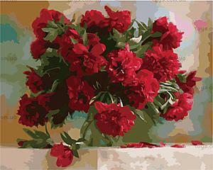 Картина по номерам «Красные пионы», КН1133