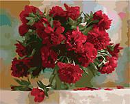 Картина по номерам «Красные пионы», КН1133, фото