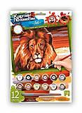 Картина по номерам «Лев - царь зверей», KN-03-07, фото