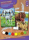Картина по номерам «Лошади», SA0215, купить